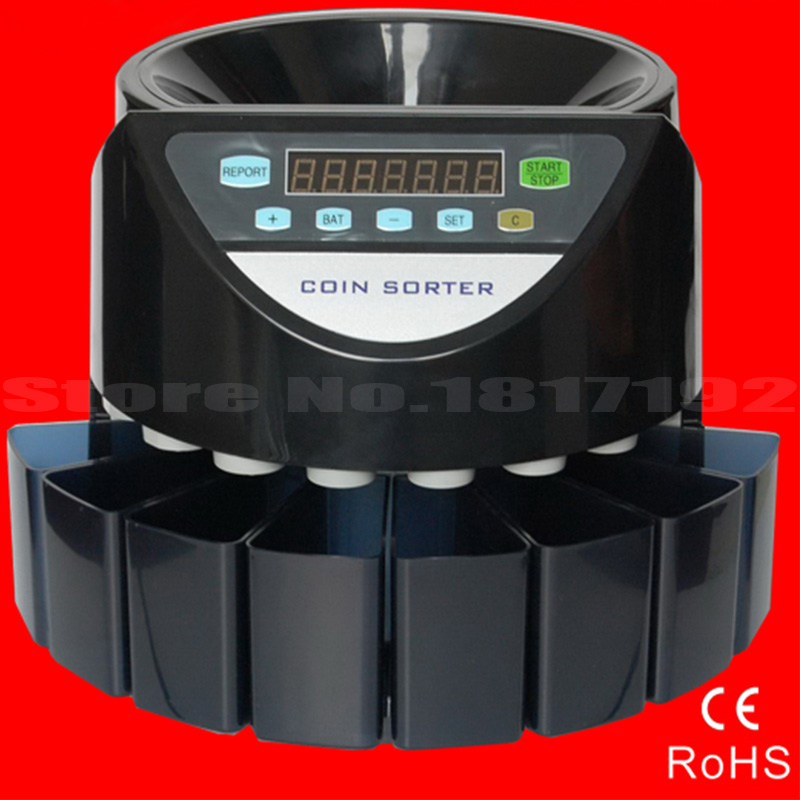 Electronic coin counter coin sorter,SE-900 counting machine for most countries coins, counting for UK,EU,THB,MRY etc,DHL ship