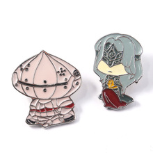 Dark Souls Metal Brooches Pins Figure Solaire of Astora Enamel Badge For Women Men backpack bags Hat Jewelry