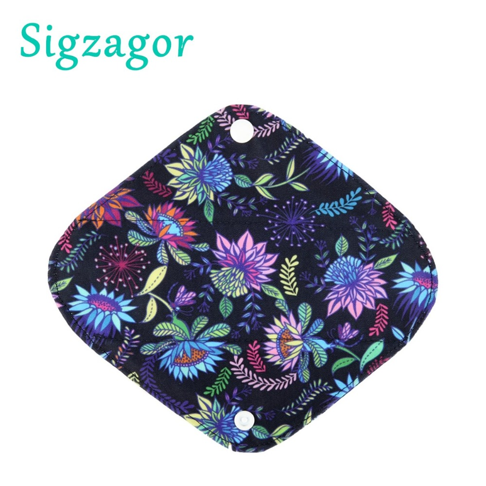 """[Sigzagor] 60 Small S Panty Liners Reusable Washable Bamboo Charcoal Menstrual Sanitary Mama Cloth Pads,8""""/20cm 26 Designs-in Feminine Hygiene Product from Beauty & Health    1"""
