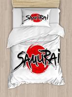 Японский набор пододеяльников для пуховых одеял Твин размеры самурая надпись над солнце рисунок император человек мощность
