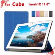 Para cube iwork 1x case case pu cubierta de cuero de alta calidad para el cubo iwork1x 11.6 pulgadas tablet pc