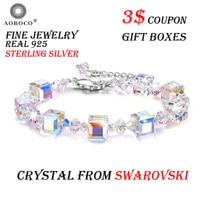 AOBOCO Brand Bracelet A Little Romance Adjustable 7 9 Crystal Stretch Bracelet ,Crystal From Swarovski For Women Girl Gift