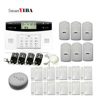 SmartYIBA English Russian Spanish French Voice 7 Wired 99 Wireless Zones GSM Home Security Alarm Systems Fire Smoke Detector