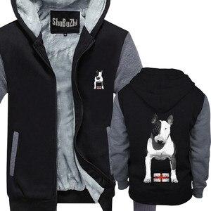 Image 1 - Abrigo de lana gruesa con capucha para hombre, abrigo de campera con capucha para invierno, talla europea, hecho en Inglaterra, Bully EBT, Inglés Bull Terrier