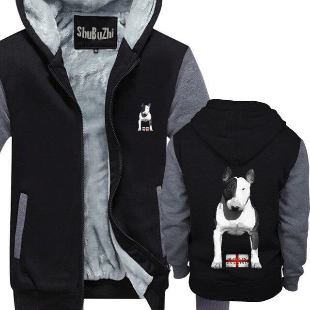 Abrigo de lana gruesa con capucha para hombre, abrigo de campera con capucha para invierno, talla europea, hecho en Inglaterra, Bully EBT, Inglés Bull Terrier