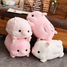 1 adet 50cm yumuşak Kawaii aşk domuz peluş yastık dolması sevimli hayvan yastık el ısıtıcı çin zodyak domuz oyuncak bebek doğum günü hediyesi çocuk