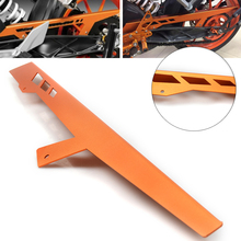 цена на CNC Aluminum Motorcycle Accessories Chain Guard Cover Protector Orange For KTM RC 125 200 390 Duke 2011 2012 2013 2014 2015 2016