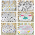 Newborn Baby Bed Sheet Pattern Bedding 110x76cm Bed Sheet Newborn Super Soft Crib Cheap Linen Cot Boy Girl 100% Cotton Blanket