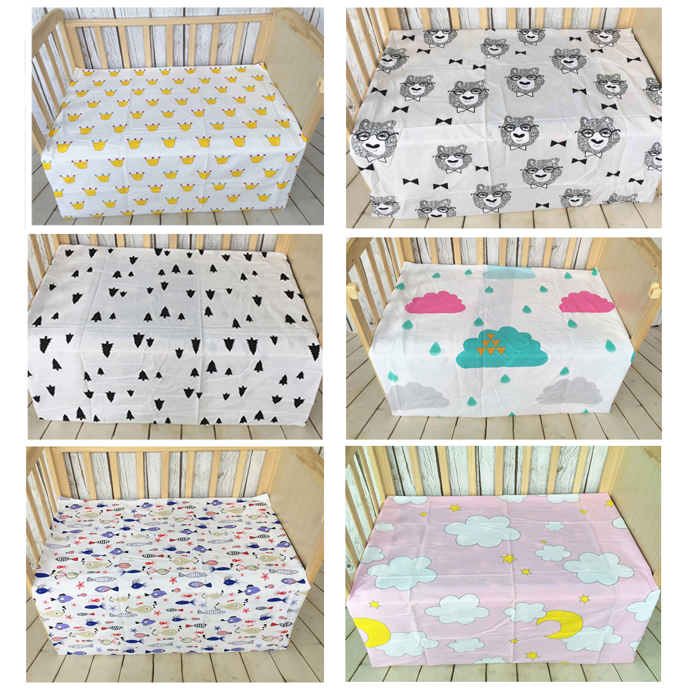 Baby bed sheet pattern - Newborn Baby Bed Sheet Pattern Bedding 110x76cm Bed Sheet Newborn Super Soft Crib Cheap Linen Cot