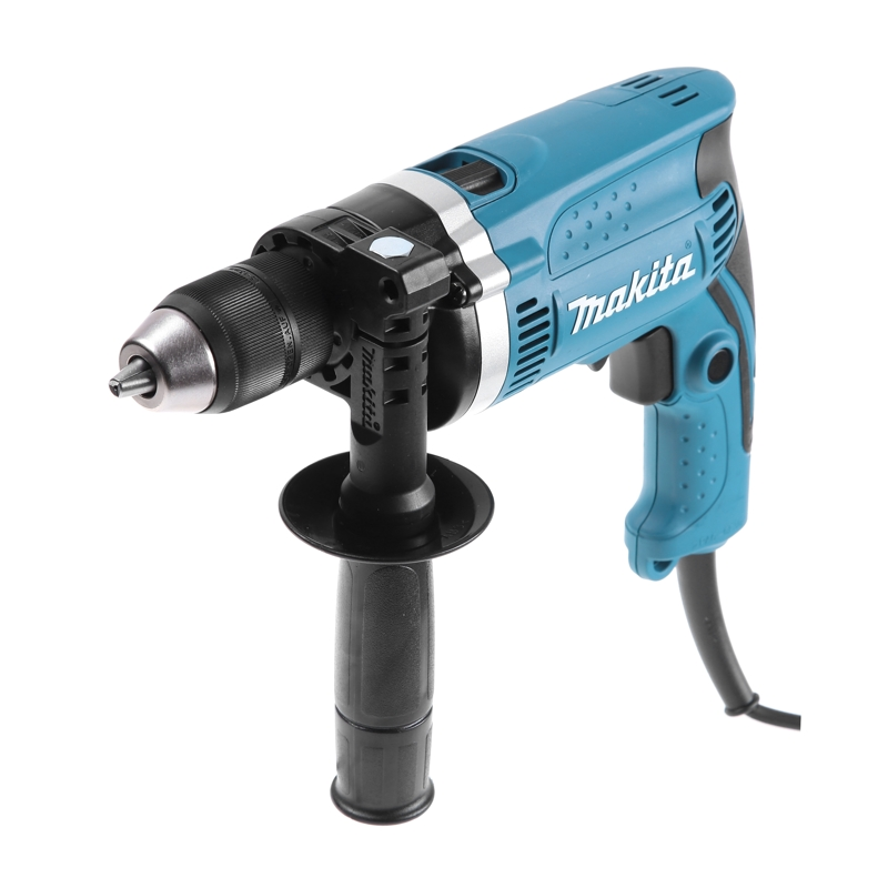 Drill impact Makita HP1631 (Power 710 W, keyless chuck, drilling in the tree up to 30mm)