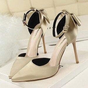 Image 3 - Zapatos de tacón con punta en pico para mujer, calzado de vestir, náuticos, de boda, de talla grande 34 43, 2019