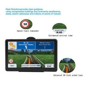 Image 4 - Car GPS navigator 7 inch HD screen car GPS navigation FM Navitel satellite navigation truck GPS navigation car latest Europe map