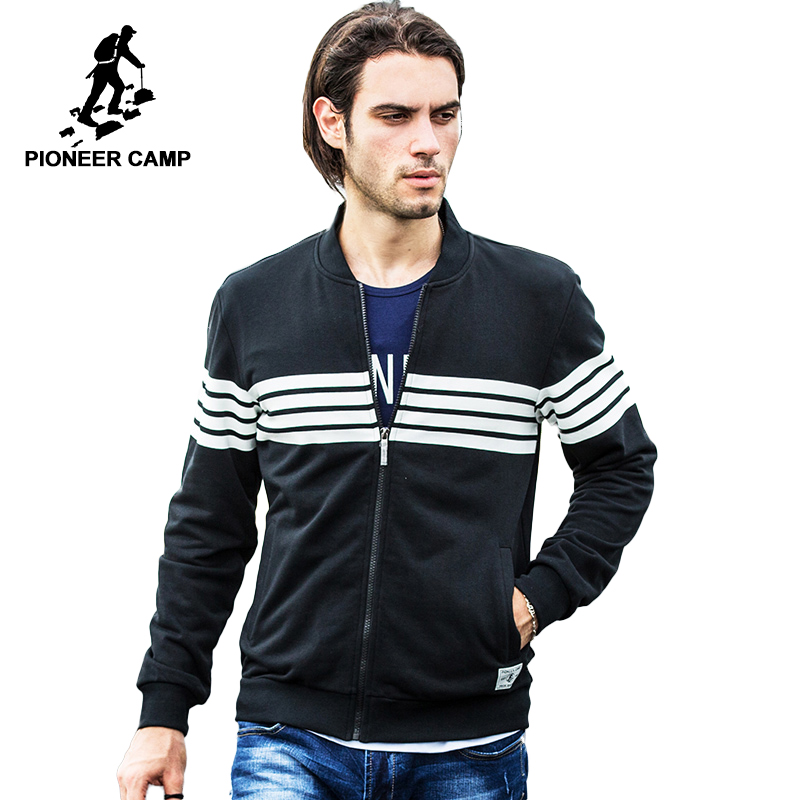 Pioneer Camp brand clothing Spring Autumn High quality Cardigan hoodie men jacket coat male hoodies sweatshirts fashion casual
