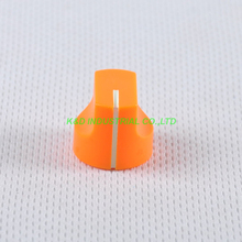 10pcs Colorful Rotary Control Vintage Plastic Orange Knob 16x15mm for Guitar 6.35mm Shaft Amp Parts