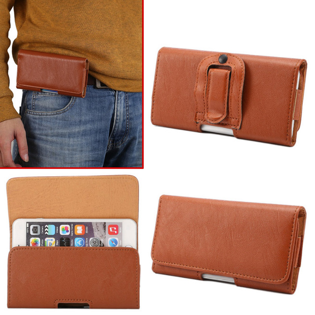 "5.5-5.7 inch For ZTE V5 Pro ZTE N939sc Belt Clip Holster Flip Leather Case Cover For Meizu PRO 5 5.5"" Mobile Phone Bags"