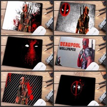 Mairuige Big promotion Deadpool iron Man Movie High Speed Mousepad Gaming Mouse Pad Small Size Mouse Mat Keyboard Pad 22X18CM