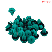 25 Pcs Auto Fastener Hole Door Trim Panel Plastic Clips Rivets Retainer for Toyota 90467 10188 Car Fender Bumper Car Styling