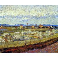 Vincent Van Gogh pinturas sobre Tela Árvores em Flor De Pêssego mão-pintada da parede da arte decoração de Alta qualidade