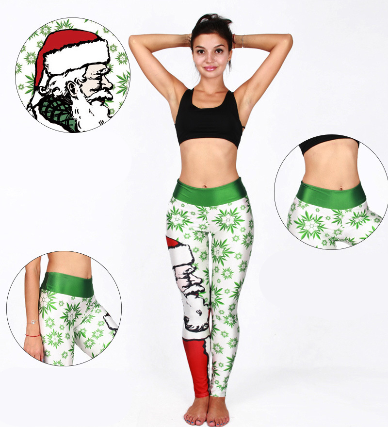 New Women Yoga 3D Pants Sports Tights Leggings Fitness Running Tights Christmas Halloween Sport Trousers Women Fitness Clothing