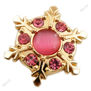 D00973 Christmas rivca stass metal jewelry snap button for bracelet snow