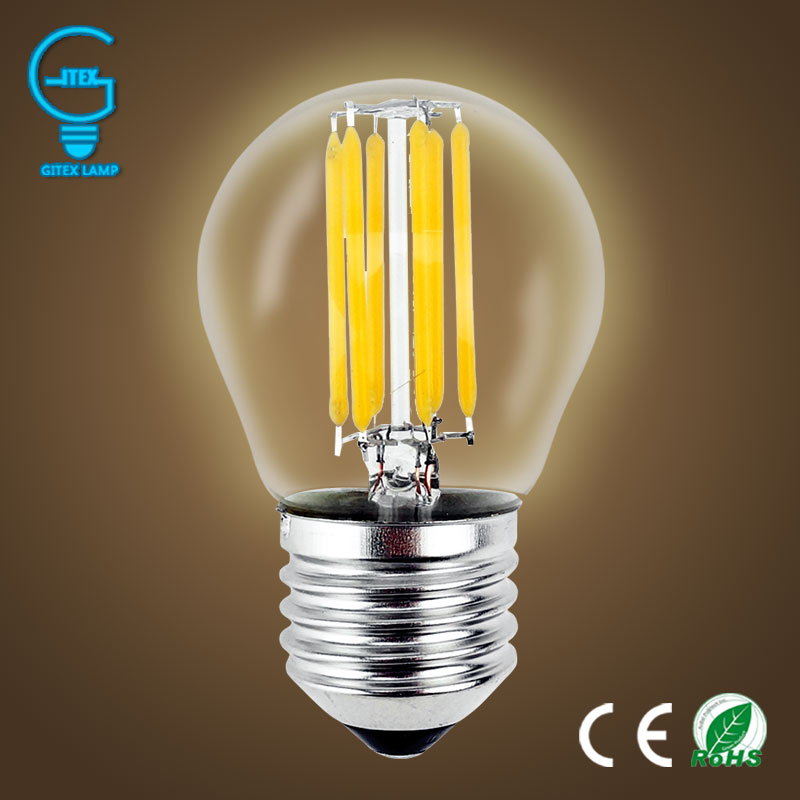 LED Bombillas Light E27 Dimmable Edison Glass Lamp G45 Led Filament Bulb E14 2W 4W 6W Antique Retro Vintage Led Bulb 220V vintage edison bulb led e27 e14 lamp filament light vintage led bulb lamp 220v retro candle light 2w 4w 6w 8w g45 g80 g95 g125