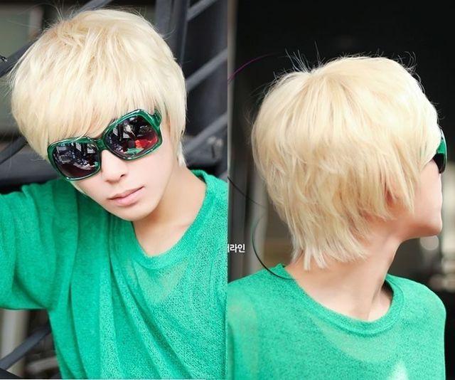 Popular Heat Resistant Hair Fashion Party Short Hair Mens Full Wigs
