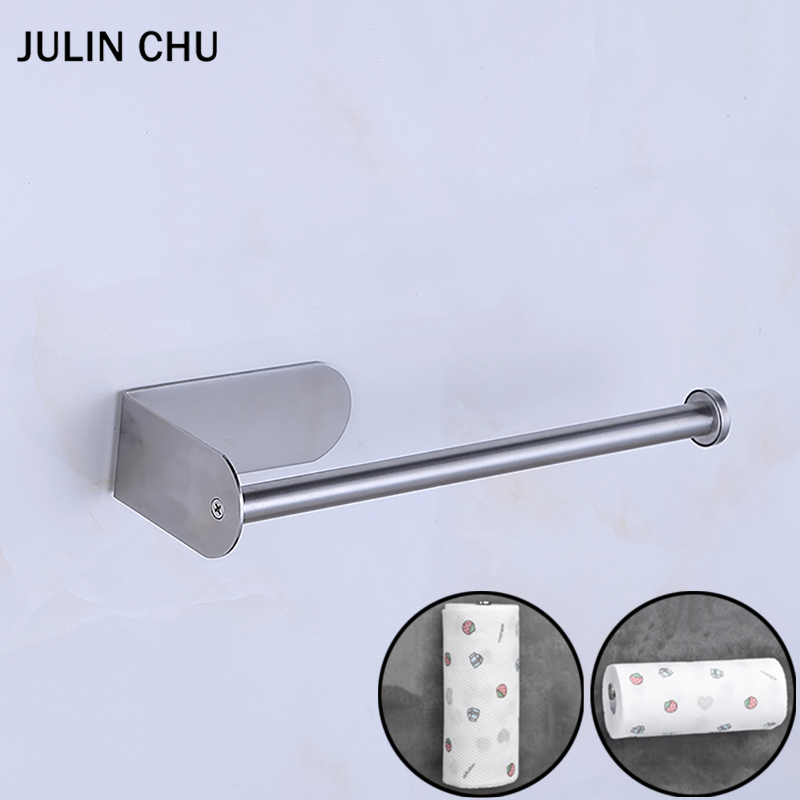 Adhesive Paper Holder 304 Stainless Steel for Bathroom Kitchen WC Toilet Brushed Tissue Paper Towel Roll Holder Stand DecorativeAdhesive Paper Holder 304 Stainless Steel for Bathroom Kitchen WC Toilet Brushed Tissue Paper Towel Roll Holder Stand Decorative