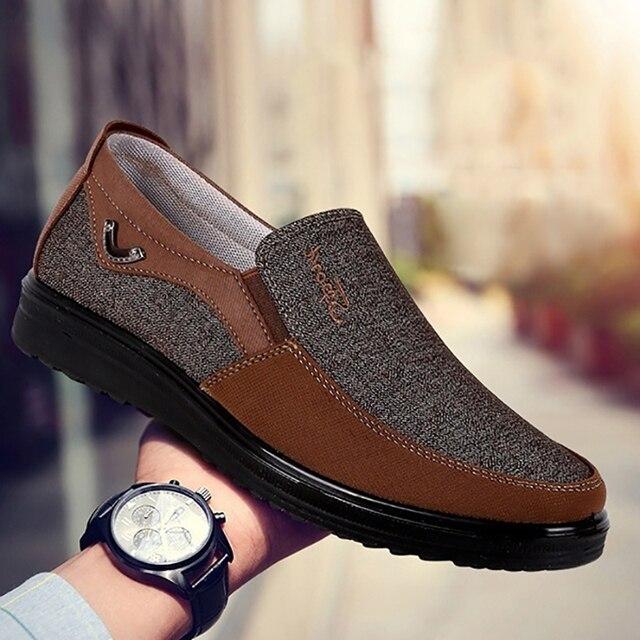 COSIDRAM Canvas Giày Đế Giày Trượt trên Người Đàn Ông Giản Dị Giày Mùa Hè Mới 2019 Thời Trang Thoáng Khí Mềm Giày Lái Xe Phẳng Giày BRM-088
