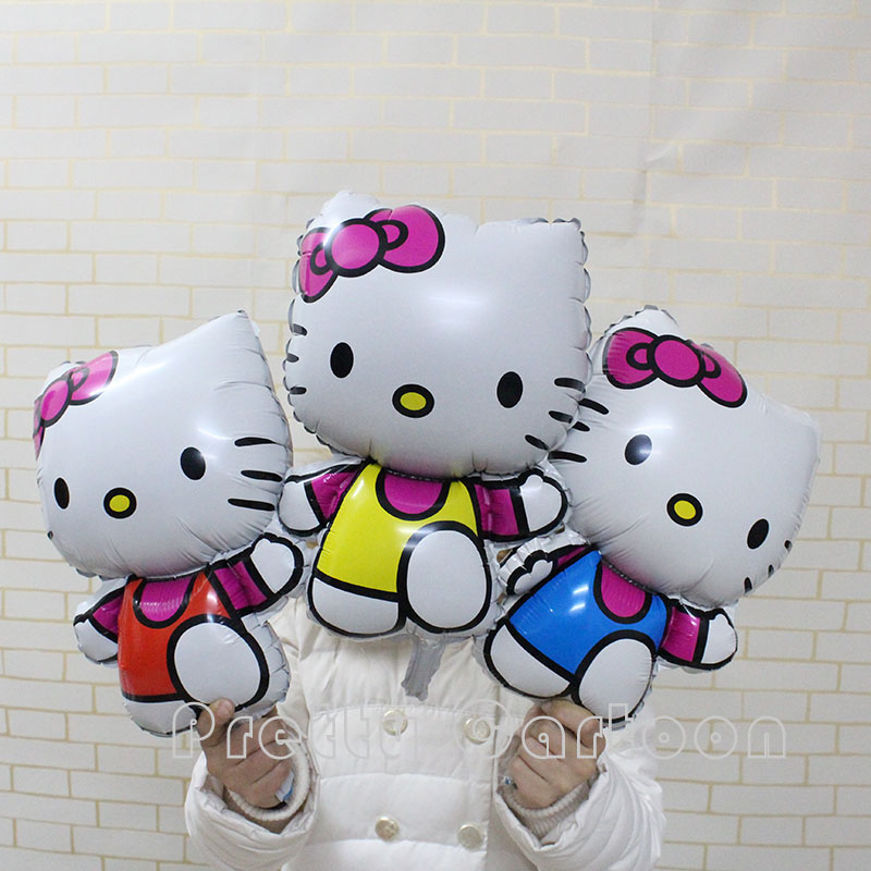 Balloons Hello Kitty Inflatable Air Foil Balloon Girl Party Supplies Toys Christ