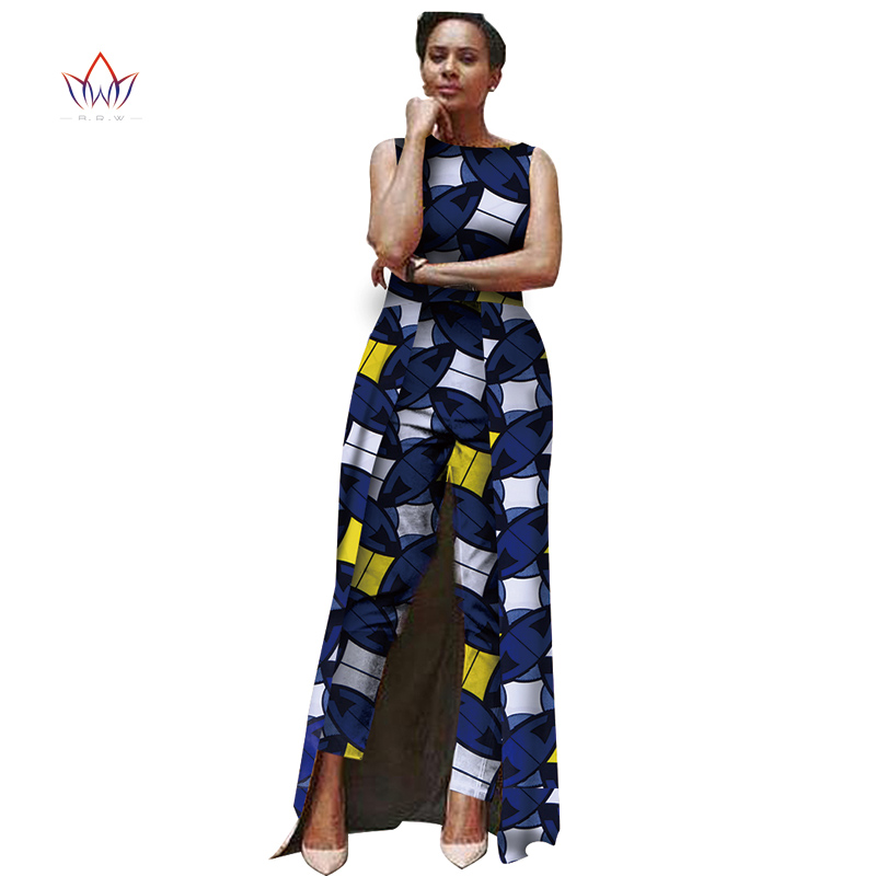 Us 56 99 Summer Jumpsuit Women 2019 Fashion Bodysuit Africa Traditional Clothing Print Batik Jumpsuit Customized Big Size 6xl None Wy503 In