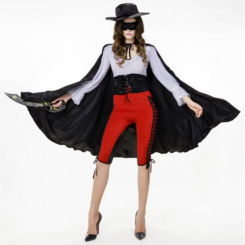 2018 New Style Halloween Costume For Woman Pirates Of The Caribbean Popular Caribbean Jack Sparrow Cosplay In Stock QZ002