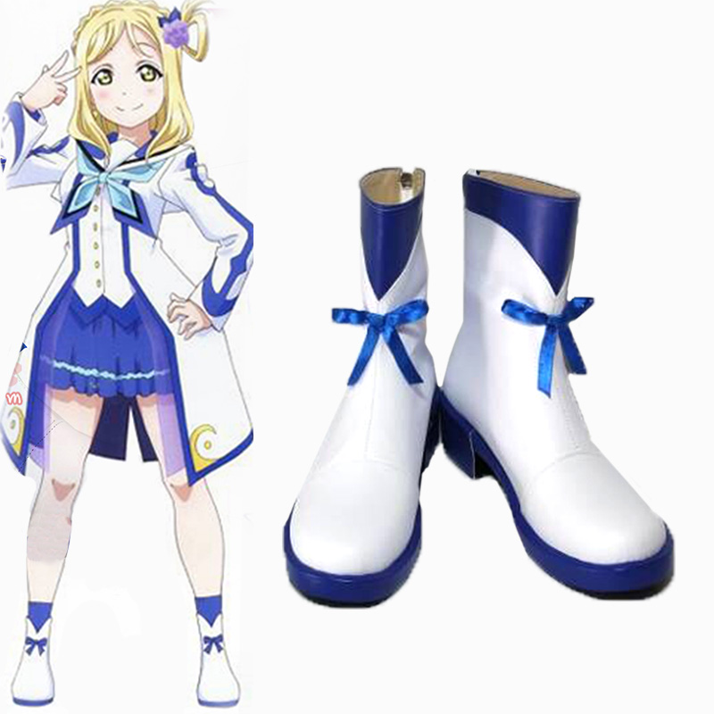 Love Live!Sunshine Guilty Kiss Ohara Mari shoes Cosplay Custom women's cartoon shoes fashion leisure cartoon PU leather shoes
