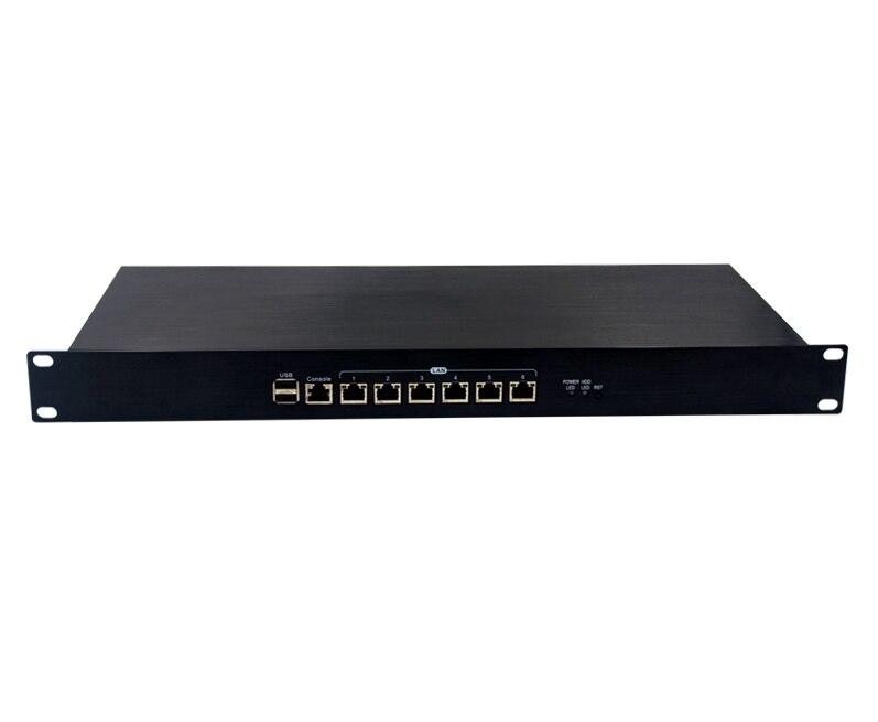 J1900 1u сетевой маршрутизатор сервер Мини-ПК 6 Lan брандмауэр Мини-ПК