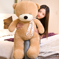 stuffed toy large 100cm light brown bear plush toy squinting eyes teddy bear soft doll hugging pillow Christmas gift s2577