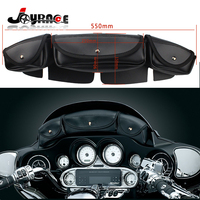 Motorcycle Windshield Bag With 3 Pocket Pouch for Harley Davidson FLHX Street Glide Tri Elide Trike Model 2006 2013