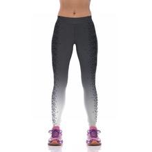 NEW KYK1093 Sexy Girl Women Black Gradient Dot 3D Prints High Waist Running Fitness Sport Leggings Jogger Yoga Pants
