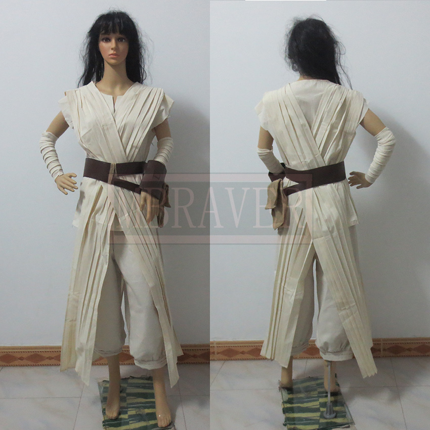 Star wars costume adult the force awakens Rey cosplay Carnival party costume Star wars Rey costume custom made all size