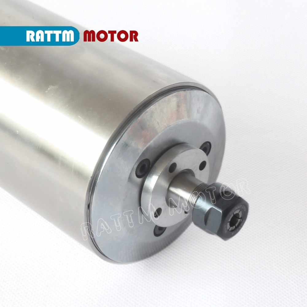 EU Delivery! 220V 1.5KW ER11 Water-cooled spindle motor 24000rpm 3 bearing ENGRAVING MILLING GRIND from RATTM MOTOR no tax