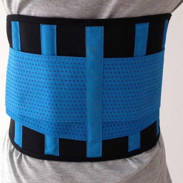 8a3df671742 Waist Support Neoprene Waist Trimmer Exercise Belt Slimming Lumbar  Protector Belts Sweat Loss Weight Belly Girdle For Men Women