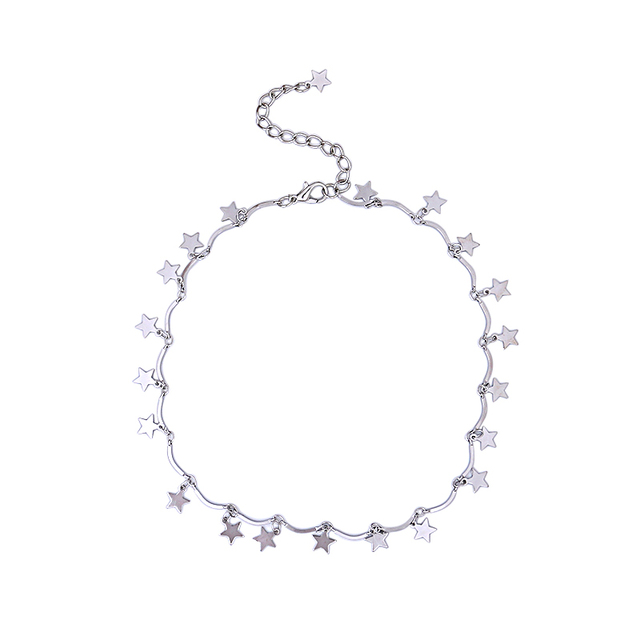 Women's Star Shaped Gold Silver Pendant Necklace