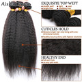 Peruano virgem cabelo Crespo Em Linha Reta Barato 8 ''-20'' Feixes de Cabelo Humano Peruano 3 pçs/lote Produtos para o Cabelo