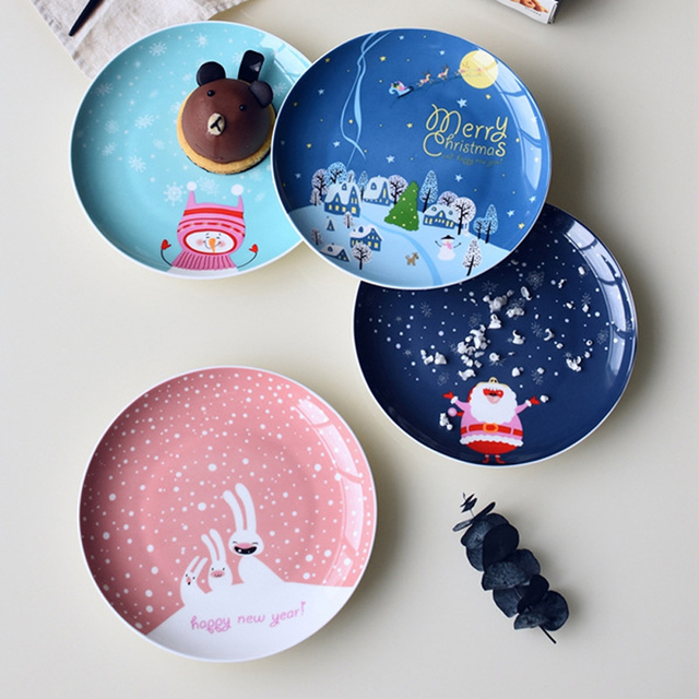 2017 Christmas Gift Dish Tableware Home Decoration Handmade Ceramic Plate Cake Pastry Fruit Flower plate Cake & 2017 Christmas Gift Dish Tableware Home Decoration Handmade Ceramic ...