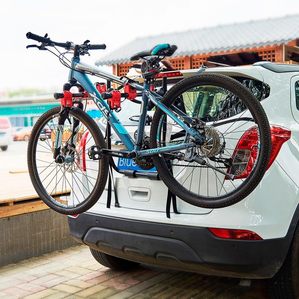 car bicycle stand 3 bike trunk mount bike racks for most sedan suv hatchbacks minivans