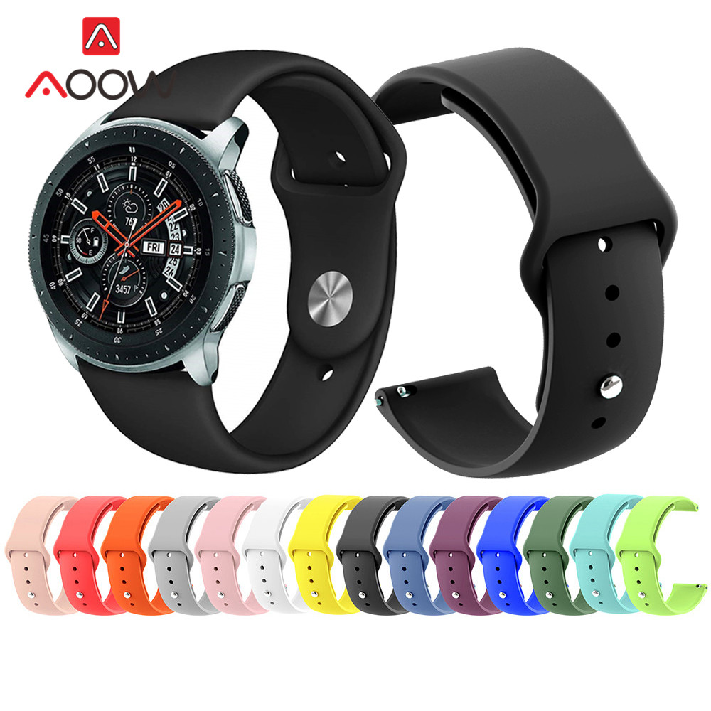 18mm 20mm 22mm Silicone Watchband For Samsung Galaxy Watch 42mm 46mm Sport Bracelet Band Strap For Amazfit Garmin SM-R810 R800