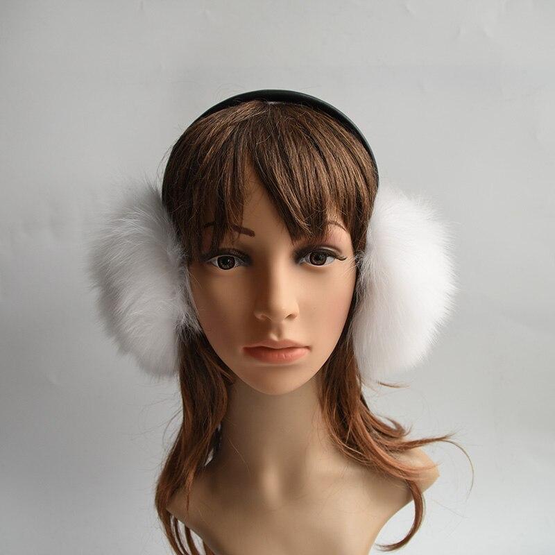 Really Big Raccoon Fur Fox Fur Earmuffs Korean 100% Genuine Fur Earmuffs Lovely Personality Plush Fur Ear Cover Winter Warm
