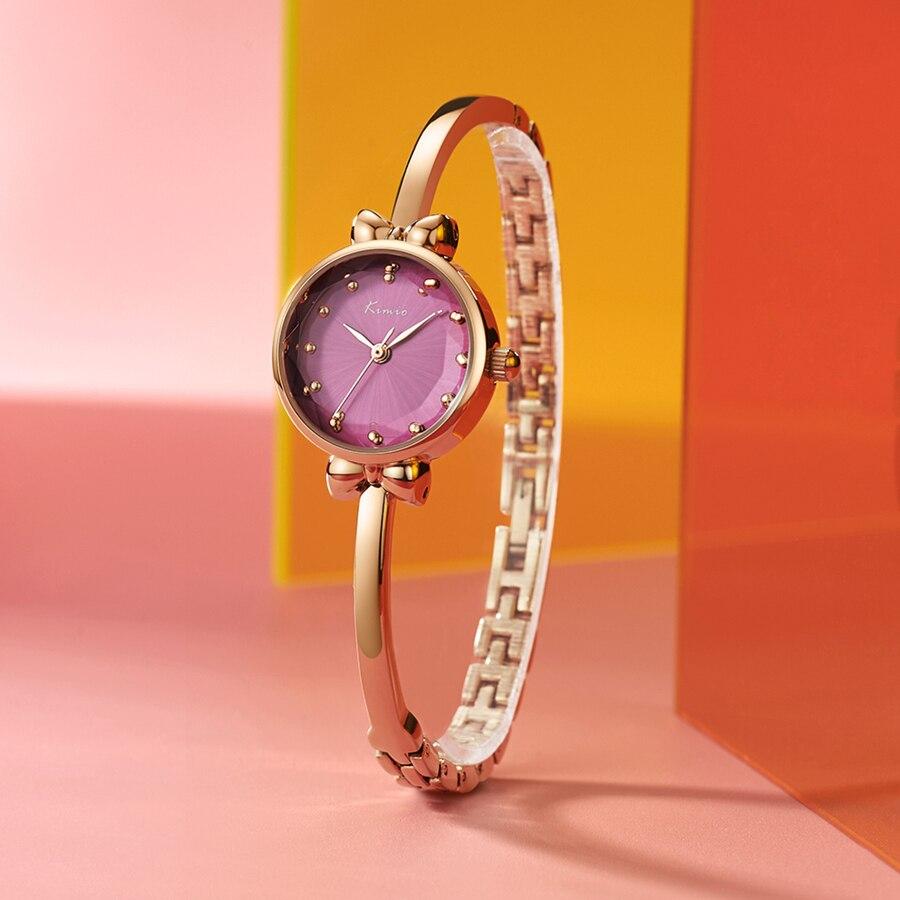 Kimio Lüks Kadınlar İzle Ünlü Marka Altın Moda Tasarım Bilezik - Kadın Saatler - Fotoğraf 3