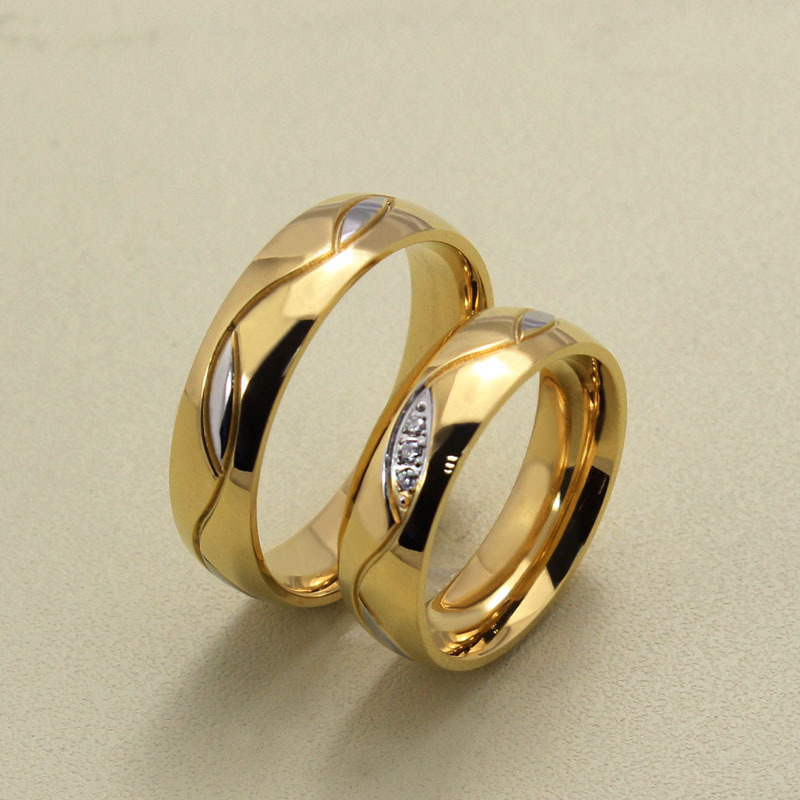 2018 New 1pcs Austria Crystal Fashion Jewelry Wedding Band Engagement Ring Men Women Accessories Aliancas De Casamento Ulove In Rings From