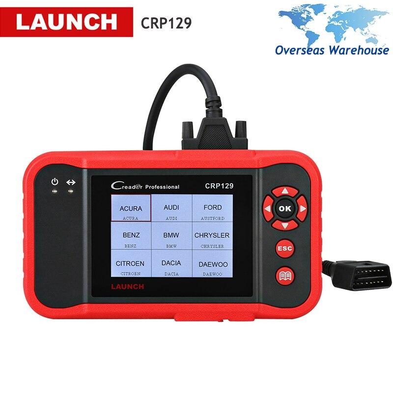 Lancement X431 Creader CRP129 OBD2 Voiture Scanner OBDII Outil De Diagnostic de Code Automatique Lecteur Moteur ABS SRS Huile De Frein Réinitialisation Diagnostics