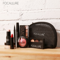 FOCALLURE Makup Tool Kit 8 PCS Must Have Cosmetics Including Eyeshadow Lipstick With Makeup Bag