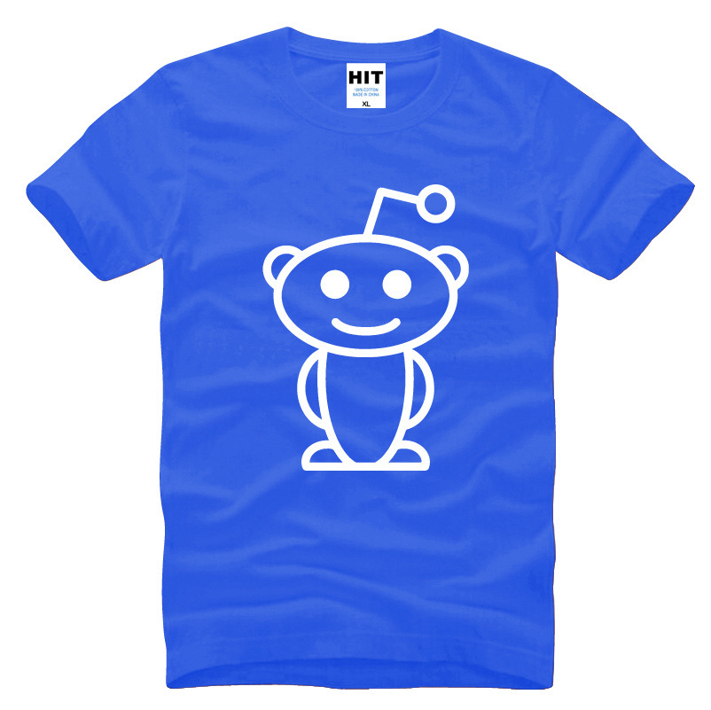 Cute Reddit Aliens Printed Men's T-Shirt T Shirt For Men 2016 New Short Sleeve O Neck Cotton Casual Top Tee Camisetas Hombre image